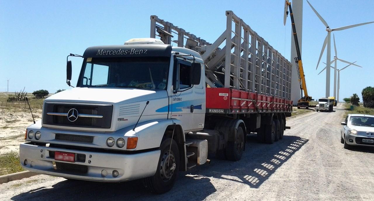 Transporte de suporte de Pá Heólica - Guamaré - RN