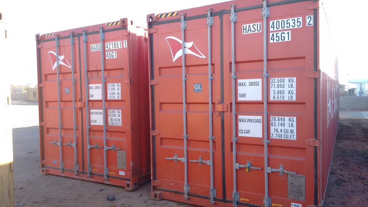 Armazenagem de containers