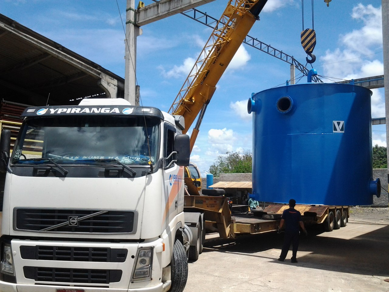 Transporte de Tanque - Cliente Fibria